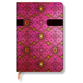 Lined Mini Paperblanks French Ornate Fuchsia Journal - 1
