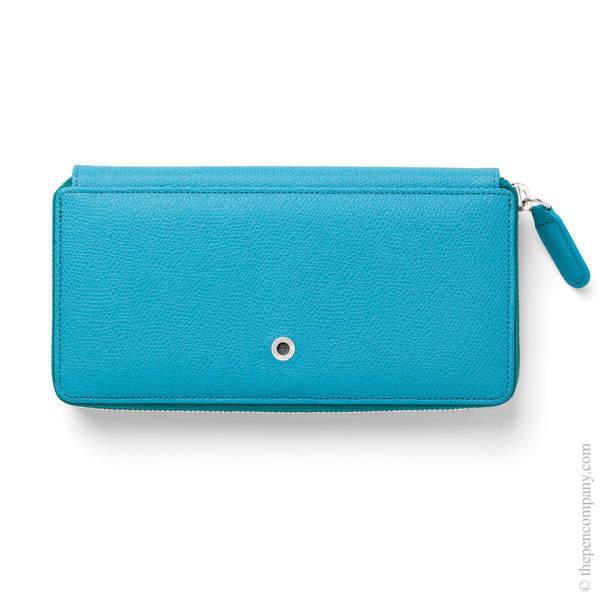 Gulf Blue Graf von Faber-Castell Epsom Ladies Purse with Zip