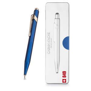 Blue Caran d Ache 849 Metal-X Pop Line Ballpoint Pen - 1