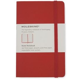 Moleskine Classic Hard Cover Notebook Red Pocket Lined - 1