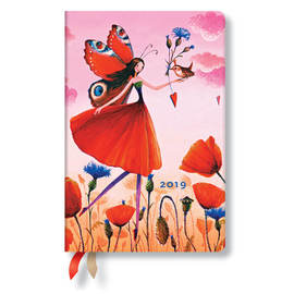 Mini Paperblanks Mila Marquis 2019 Diary Poppy Field Verso Week-to-View - 1