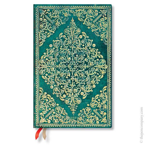 Maxi Paperblanks Diamond Rosette 2021 Diary 2021 Diary Oceania Horizontal Week-to-View