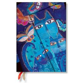 Paperblanks Midi Week-to-view Laurel Burch Blue Cats and Butterflies 2017 Diary - 1