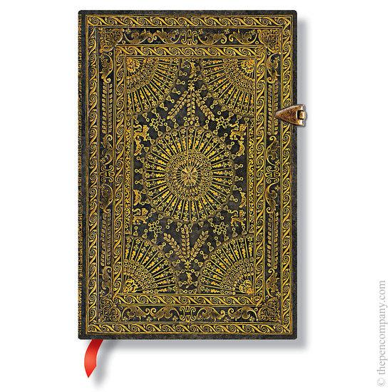 Lined Mini Paperblanks Baroque Ventaglio Marrone Journal - 1