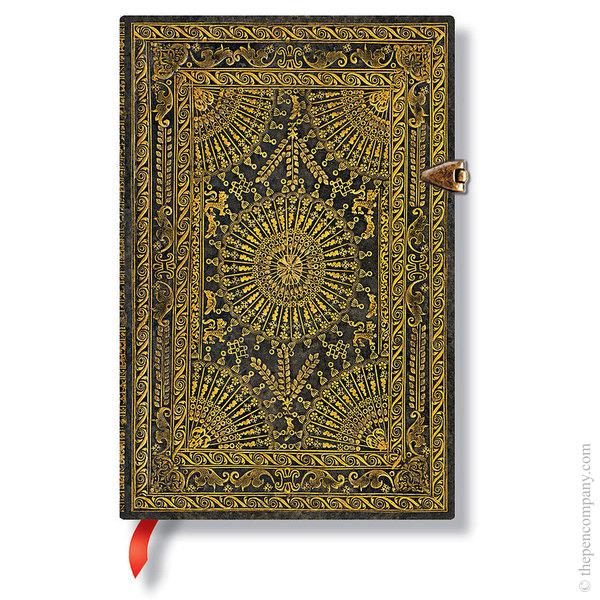 Mini Paperblanks Baroque Ventaglio Journal Ventaglio Marrone Lined