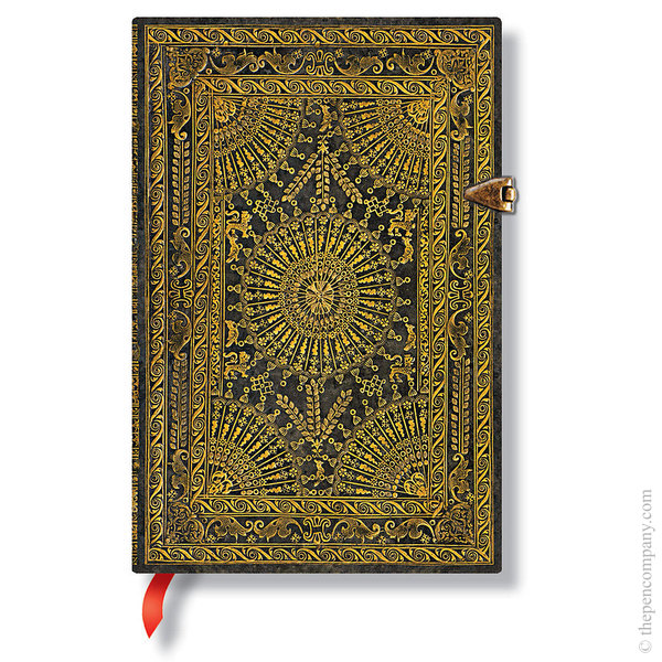 Mini Paperblanks Baroque Ventaglio Journal Journal Ventaglio Marrone Lined