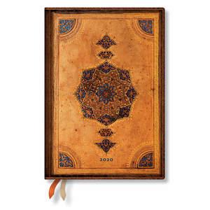 Midi Paperblanks Safavid Flexi 2020 Diary Horizontal Week-to-View - 1