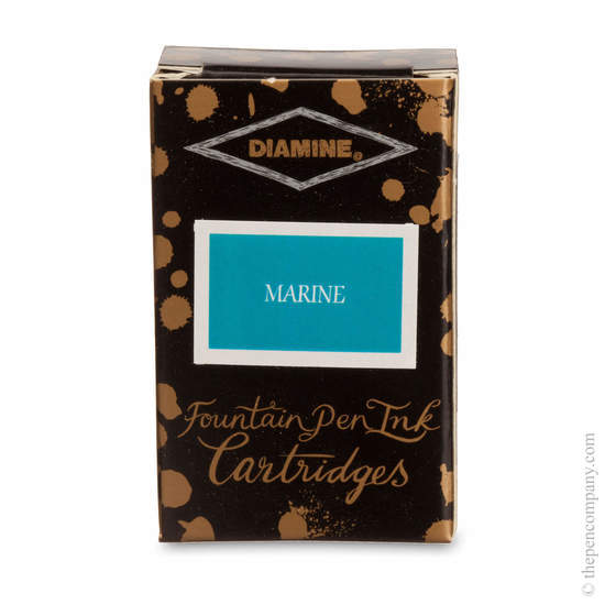 Marine Diamine Fountain Pen Ink Cartridges - 1