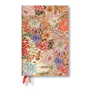 Mini Paperblanks Michiko 2020 Diary Kikka Horizontal Week-to-View - 1