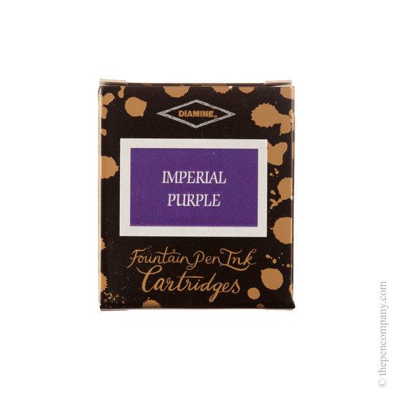 Diamine Imperial Purple Fountain Pen Cartridges 6 Pack - 1