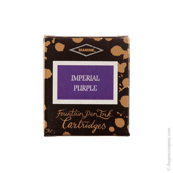 Imperial Purple Diamine Fountain Pen Ink Cartridges Pack of 6