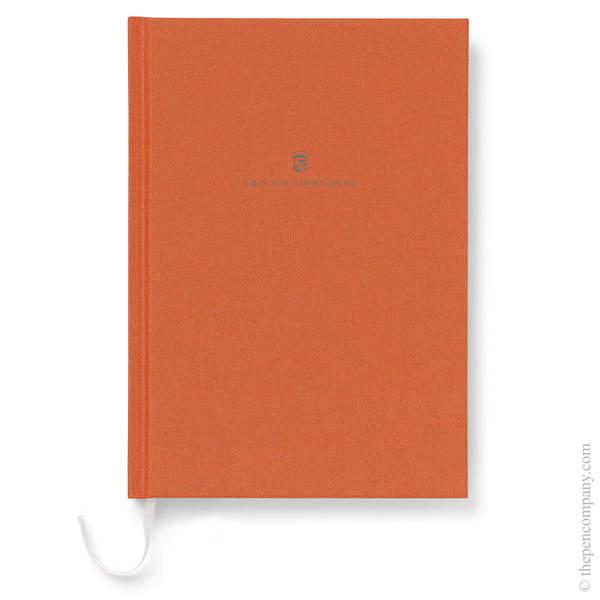 A5 Burned Orange Graf von Faber-Castell Linen Notebook Journal