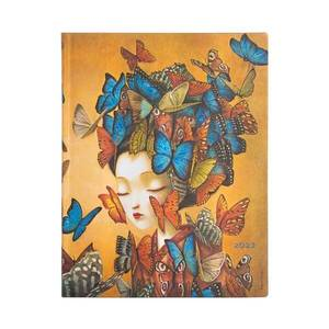 Paperblanks Madame Butterfly Esprit de Lacombe Flexi 2022 Diary Ultra - Front