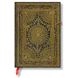 Lined Midi Paperblanks Baroque Ventaglio Marrone Journal - 1