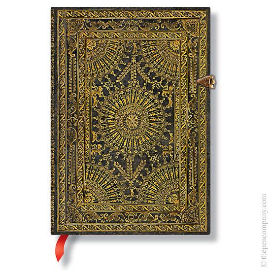 Lined Midi Paperblanks Baroque Ventaglio Marrone Journal - 1