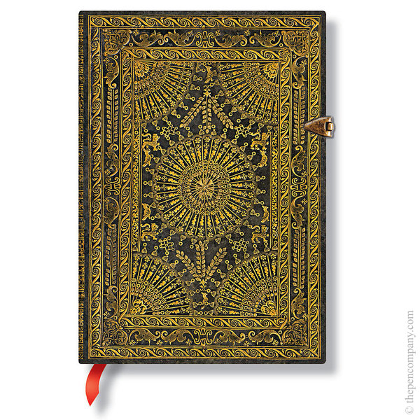 Midi Paperblanks Baroque Ventaglio Journal Journal Ventaglio Marrone Lined