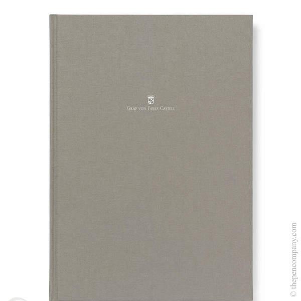 A4 Grey Graf von Faber-Castell Linen Notebook Journal