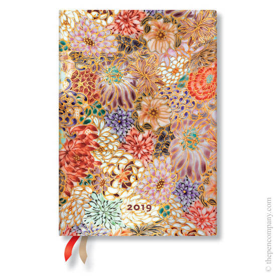 Midi Paperblanks Michiko 2019 Diary Kikka Horizontal Week-to-View - 1