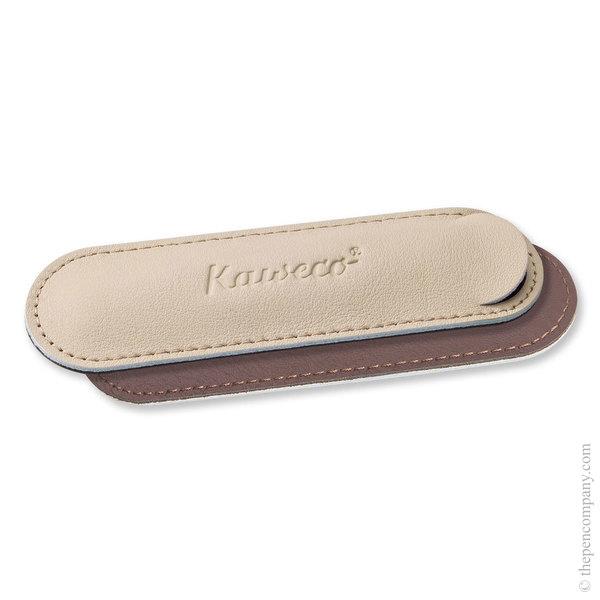 Creamy Espresso Kaweco Leather Eco Sport Pouch for One Pen Case