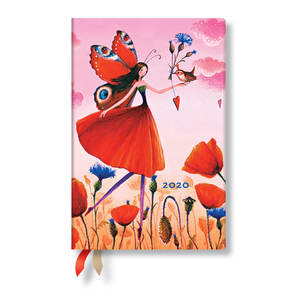 Mini Paperblanks Mila Marquis 2020 Diary Poppy Field Verso Week-to-View - 1