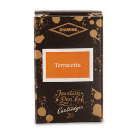 Terracotta Diamine 150th Anniversary Ink Cartridges - 1