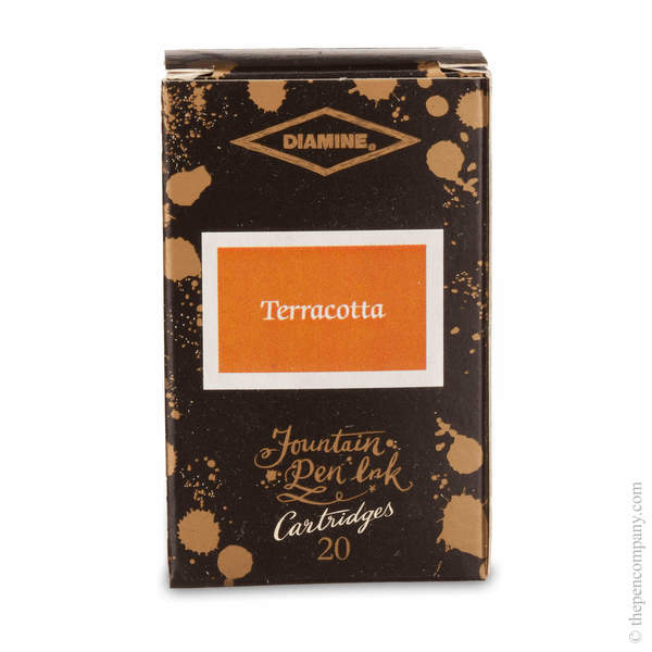 Terracotta Diamine 150th Anniversary Ink Cartridges