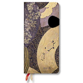 Slim Japanese Lacquer Boxes 2018 Diary Ougi Horizontal Week-to-View - 1