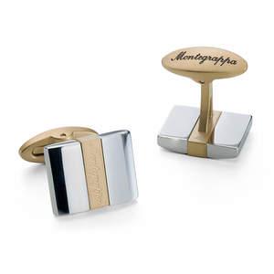 Montegrappa Rettangolo Cufflinks Gold/Silver - 1