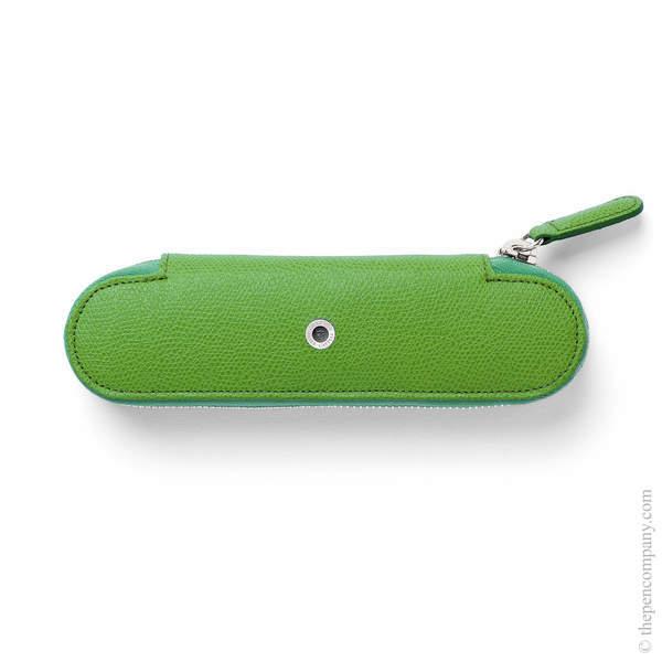 Viper Green Graf von Faber-Castell Epsom Zipper Pen Case for Two