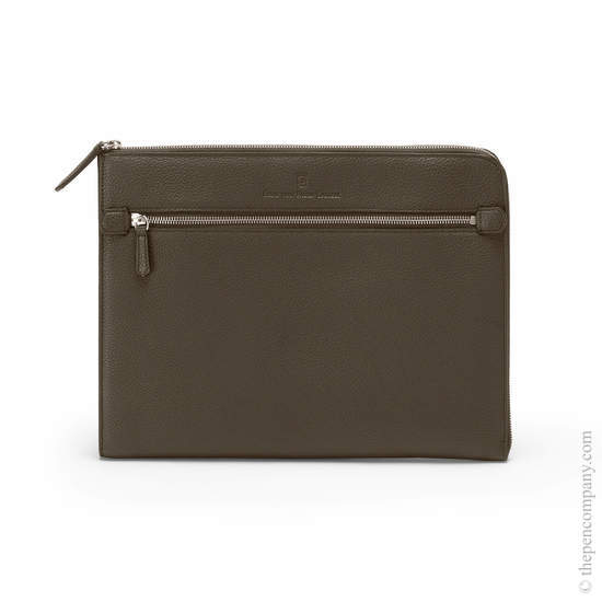 Dark Brown Graf von Faber-Castell Cashmere Folio with Zip Folder - 1