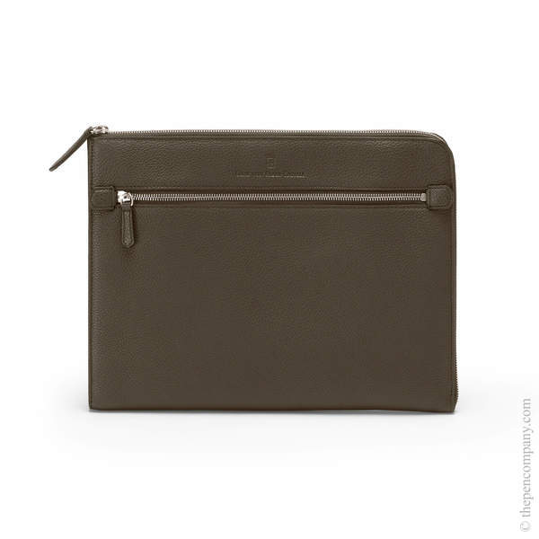 Dark Brown Graf von Faber-Castell Cashmere Folio with Zip Folder