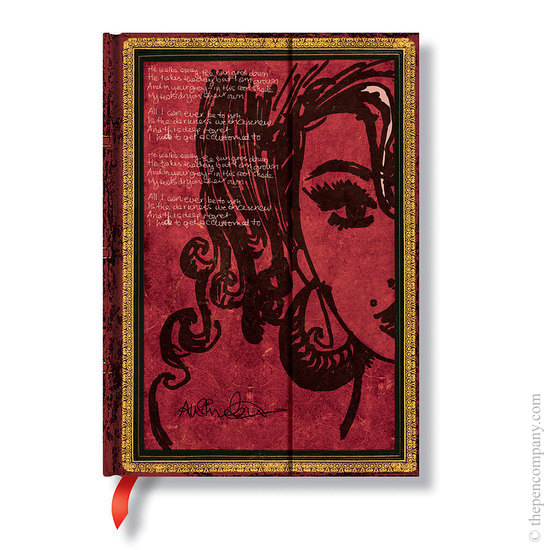 Lined Midi Paperblanks Amy Winehouse, Tears Dry Journal - 1