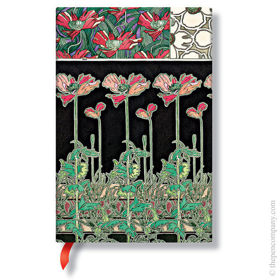 Lined Mini Paperblanks Papaver Mucha Journal - 1