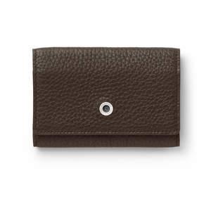 Dark Brown Graf von Faber-Castell Cashmere Leather Business Card Case Holder - 1