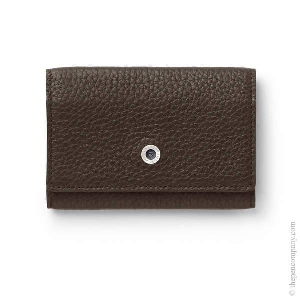 Dark Brown Graf von Faber-Castell Cashmere Leather Business Card Case Card Holder