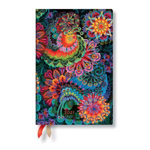 Paperblanks Moonlight Olenas Garden 2021 Diary Mini