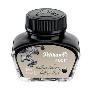 Brilliant Black Pelikan 4001 Fountain Pen Ink 30ml - 1