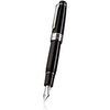 Sailor King Professional Gear Fountain Pen Black with Rhodium Trim - 1