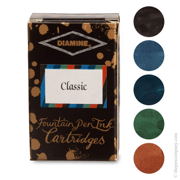 Classic Selection Diamine Fountain Pen Ink Cartridges Selection Pack