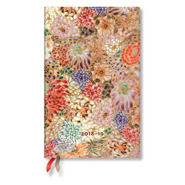 Maxi Paperblanks Michiko 2018-2019 18 Month Diary Kikka Vertical Week-to-View - 1