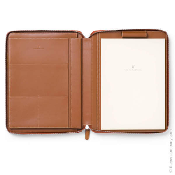 A4 Cognac Graf von Faber-Castell Epsom Writing Tablet Case