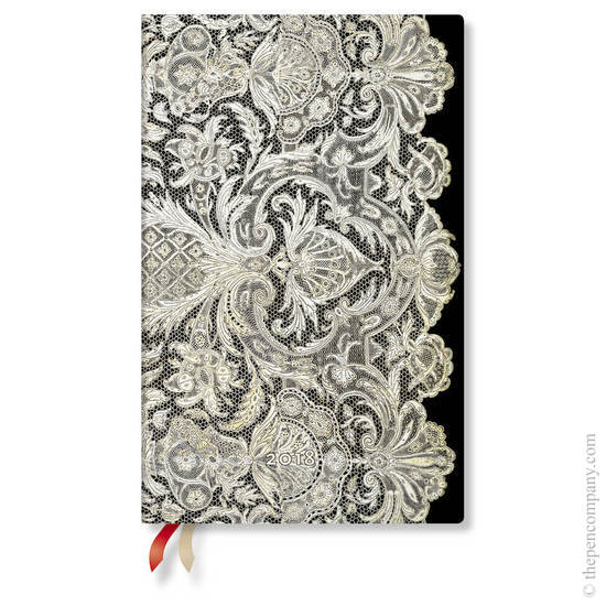 Maxi Lace Allure 2018 Diary Ivory Veil Vertical Week-to-View - 1