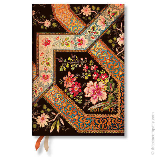 Paperblanks Filigree Floral Ebony 2016-17 academic diary - 1
