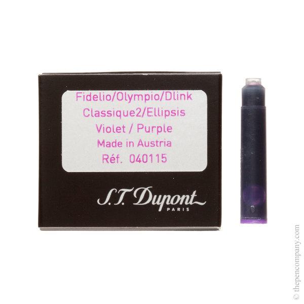 Violet S.T. Dupont Fountain Pen Cartridges Ink Cartridges