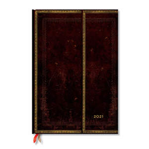 Paperblanks Black Moroccan Old Leather 2021 Diary Grande