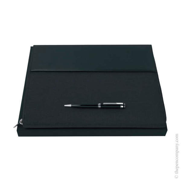 A4 Hugo Boss Caption Ballpoint Pen and Conference Folder Set