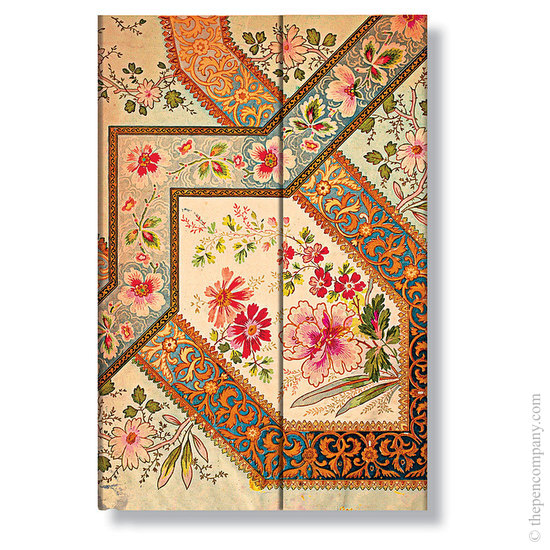 Mini Paperblanks Lyon Florals Ivory Address Book - 1