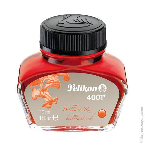Brilliant Red Pelikan Bottled 4001 Fountain Pen Ink 30ml
