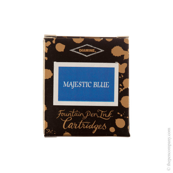 Majestic Blue Diamine Fountain Pen Ink Cartridges Pack of 6