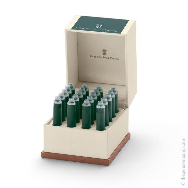 Deep Sea Green Graf von Faber-Castell 20 Fountain Pen Ink Cartridges